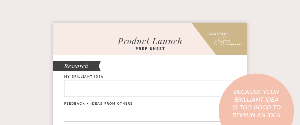 How to launch a physical product with Spruce Rd. and Jenna Stratman | This lunch + learn workshop was such a treat to hear the ins and outs of J Lynn Designery's successful (and quickly sold out!!) Refresh Weekly Planner physical product. Everything from how she decided on which product to produce, the nitty gritty of finding printers, all they way to launching.