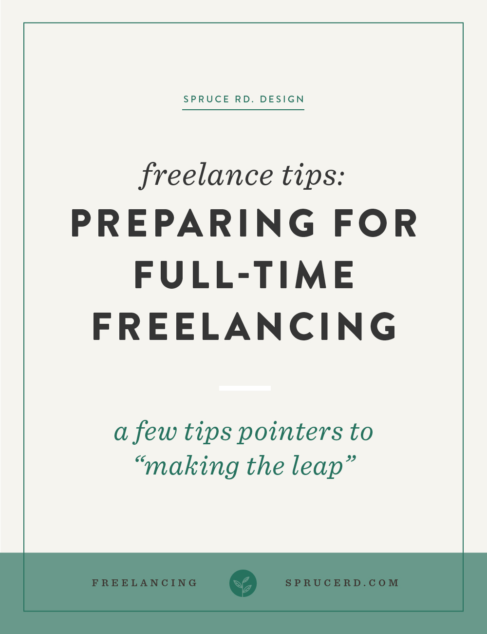 """Preparing for full-time freelancing 