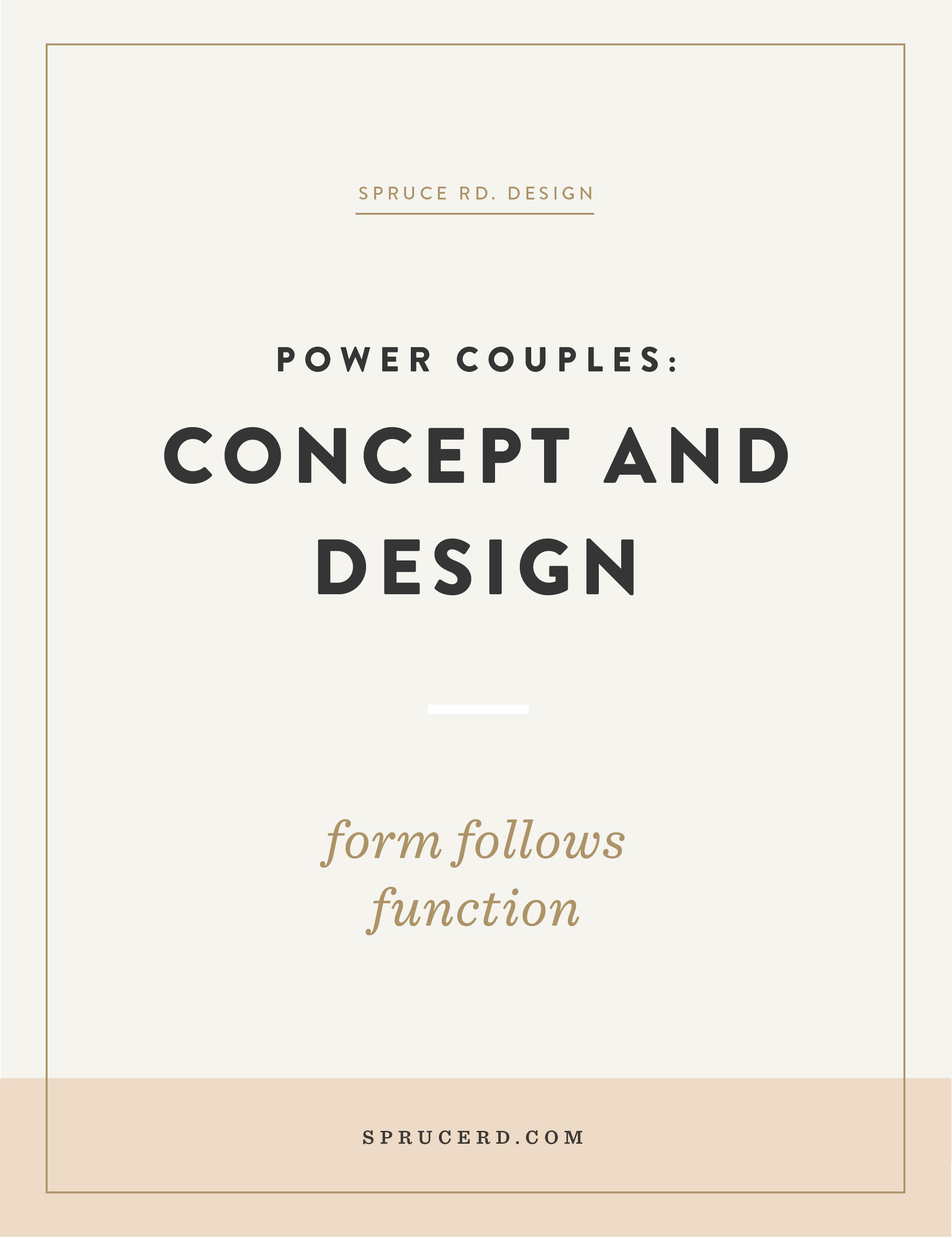 """Designing a brand can be overwhelming. Where do you even start?! In this post I'm sharing all about my fav. """"power couple"""": Concept and design."""