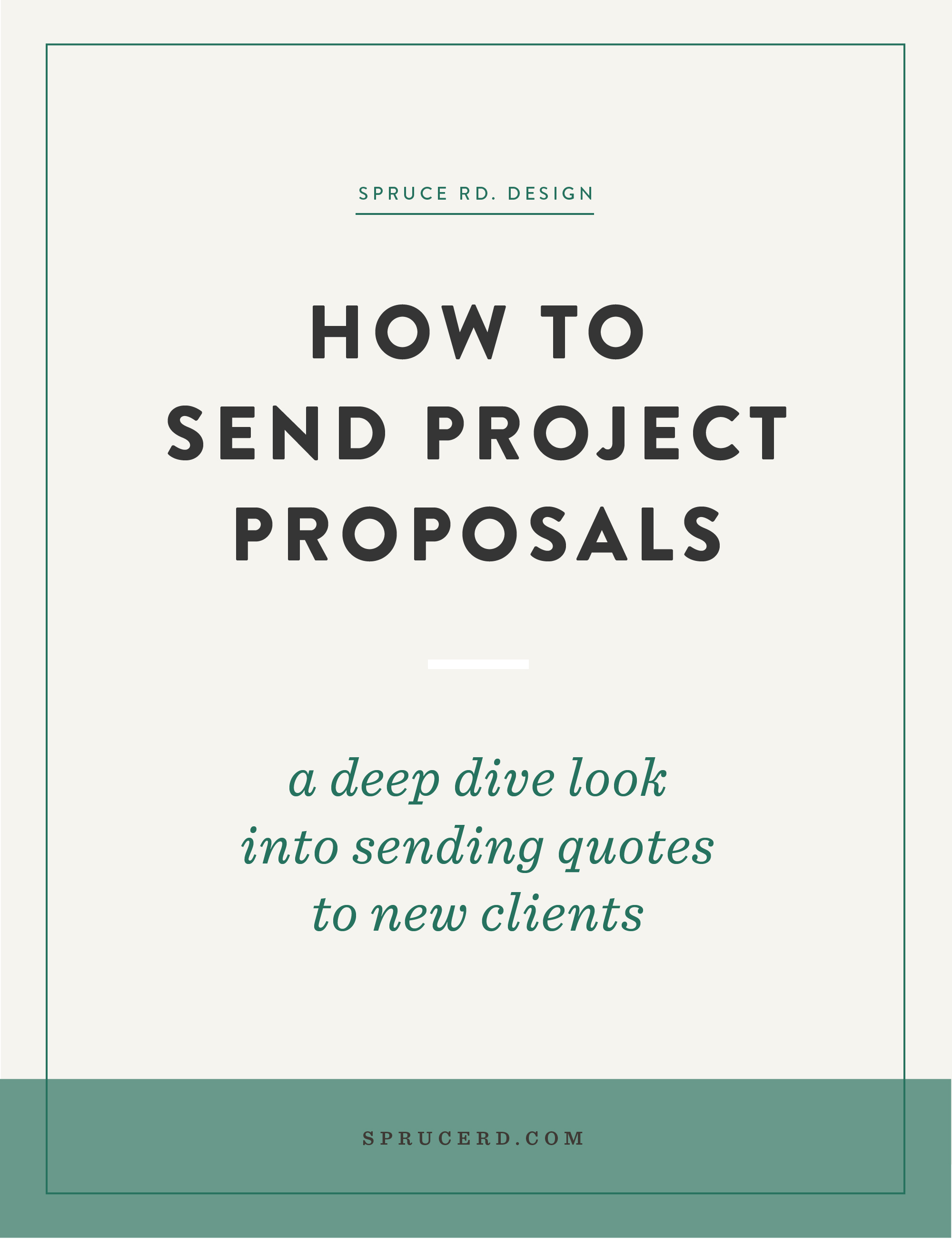 How to send project proposals   Spruce Rd.   There are a million ways to book clients and wow them with your proposals, and I've learned a thing or two over the years. What software to use? How to build in urgency? Here's exactly how we send quotes to prospective clients.