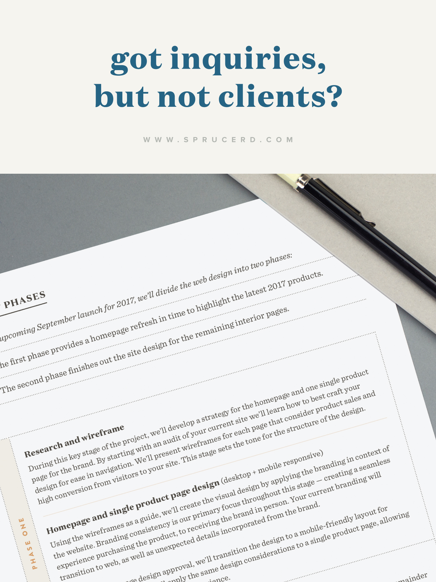 Got inquiries, but not clients? | Spruce Rd. | Here are 8 techniques to help bridge that gap between inquiry and booked client.