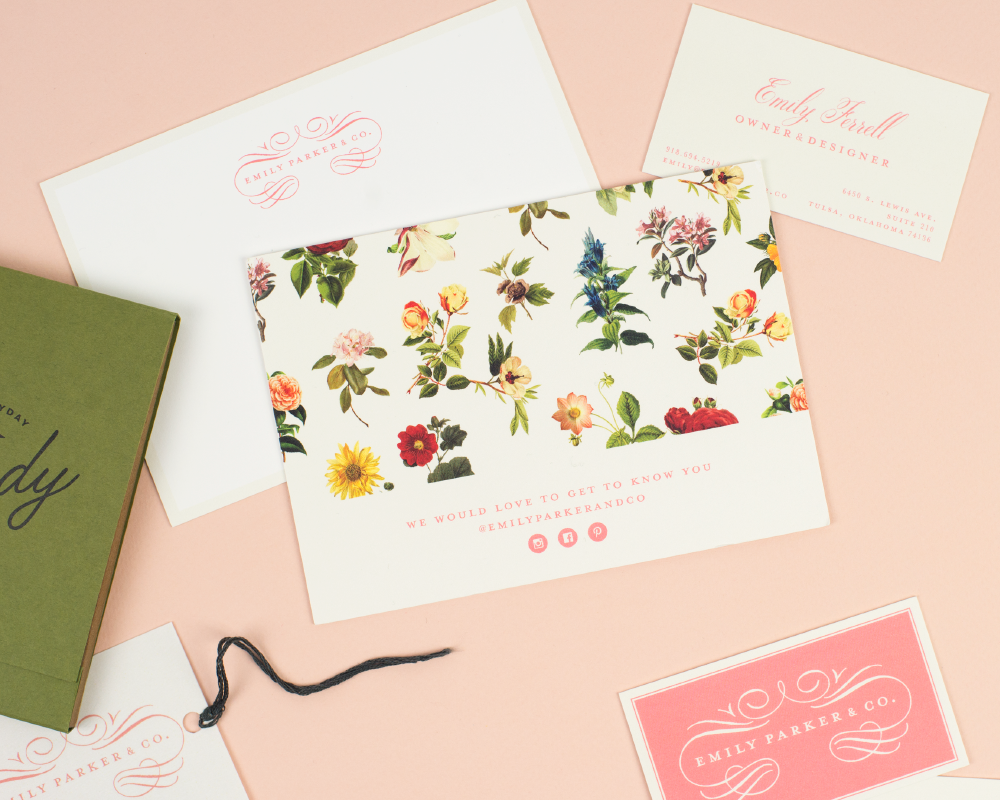 Emily Parker & Co.    Brand identity, stationery, packaging tags    View project