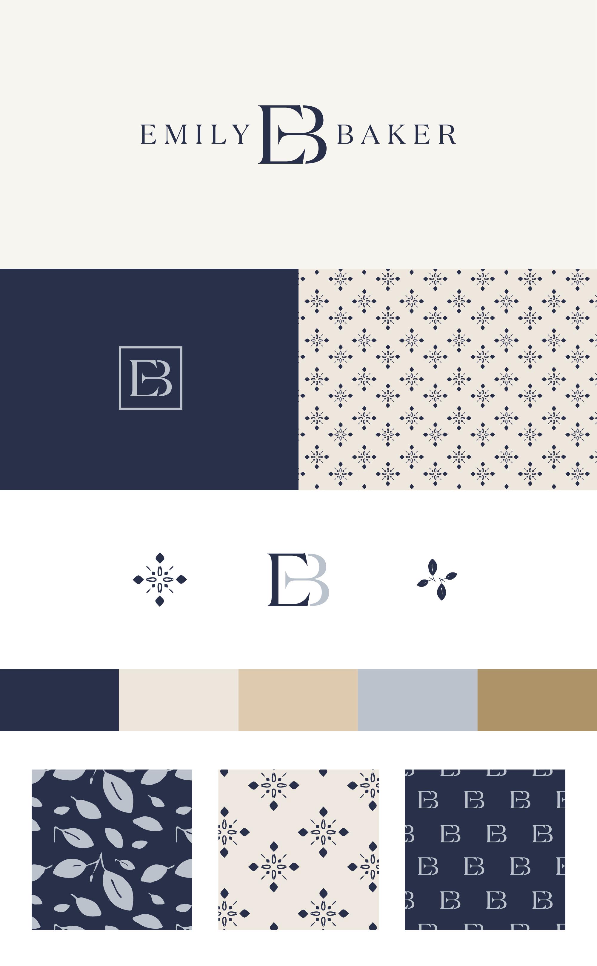 Emily Baker brand identity | Spruce Rd. | logo design, pattern design, interior design, branding, timeless, classic