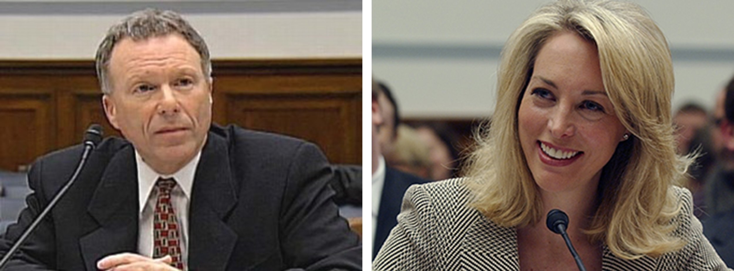 "Lewis ""Scooter"" Libby, Vice President Dick Cheney's assistant, took the hit for the Bush Administration's outing of undercover CIA agent Valerie Plame (right), apparently an act of vengeance for her diplomat husband's failure to find yellow-cake uranium in Africa that would justify the war against Saddam Hussein in Iraq"