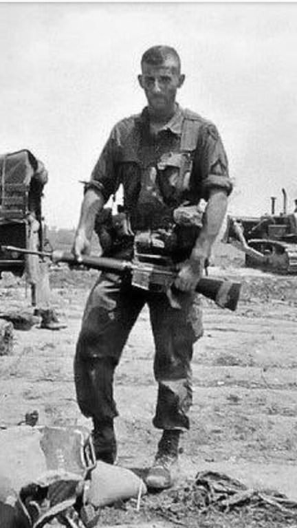 Lieutenant Robert S. Mueller, III, Second Platoon Leader, H Company, 2nd Battalion, 4th Marines, 3rd Marine Division, Vietnam, 1968-69, where he received the Bronze Star for heroism in combat and the Purple Heart for a thigh wound, among other awards. Meanwhile, his adversary stayed at home, recipient of five deferments for bone spurs, which, fortunately, did not affect his golf game.