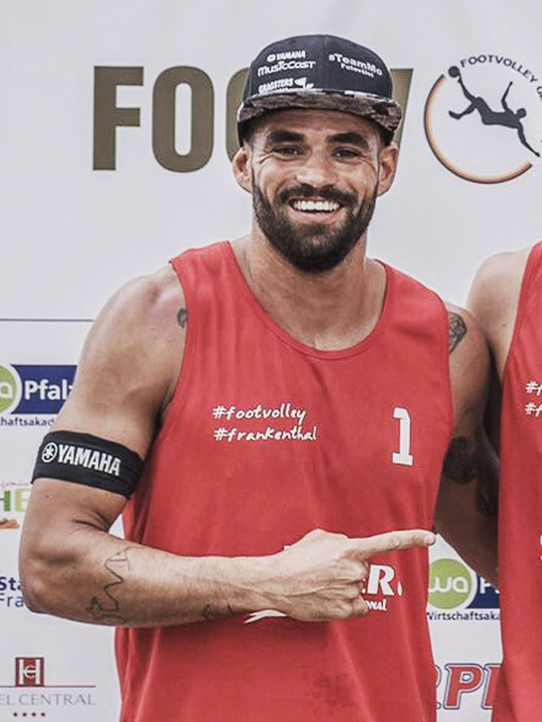 Footvolley player Mo Obeid representing Germany