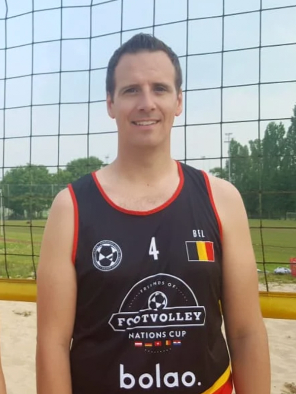 Footvolley player Jochen Van Gestel representing Belgium