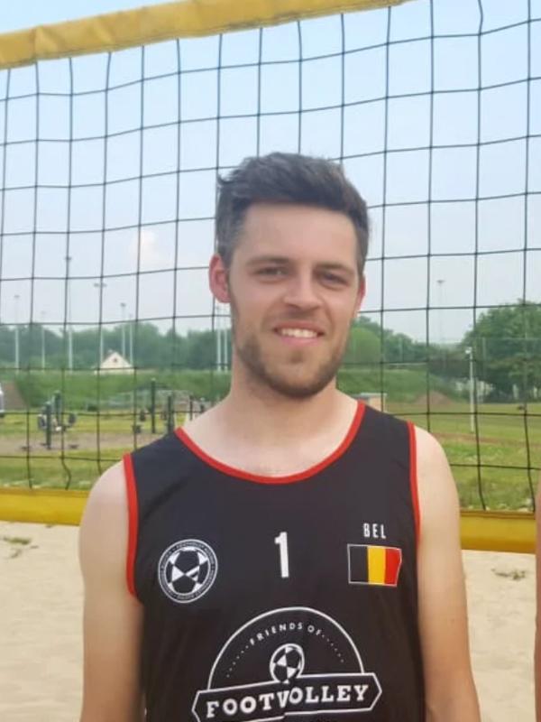 Footvolley player Ruben Veestraeten representing Belgium