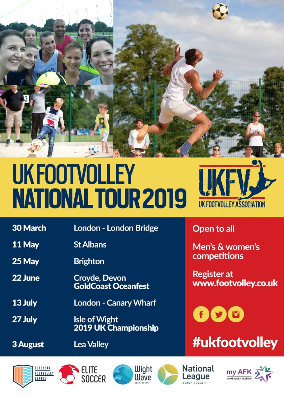 Footvolley UK Event Calender 2019