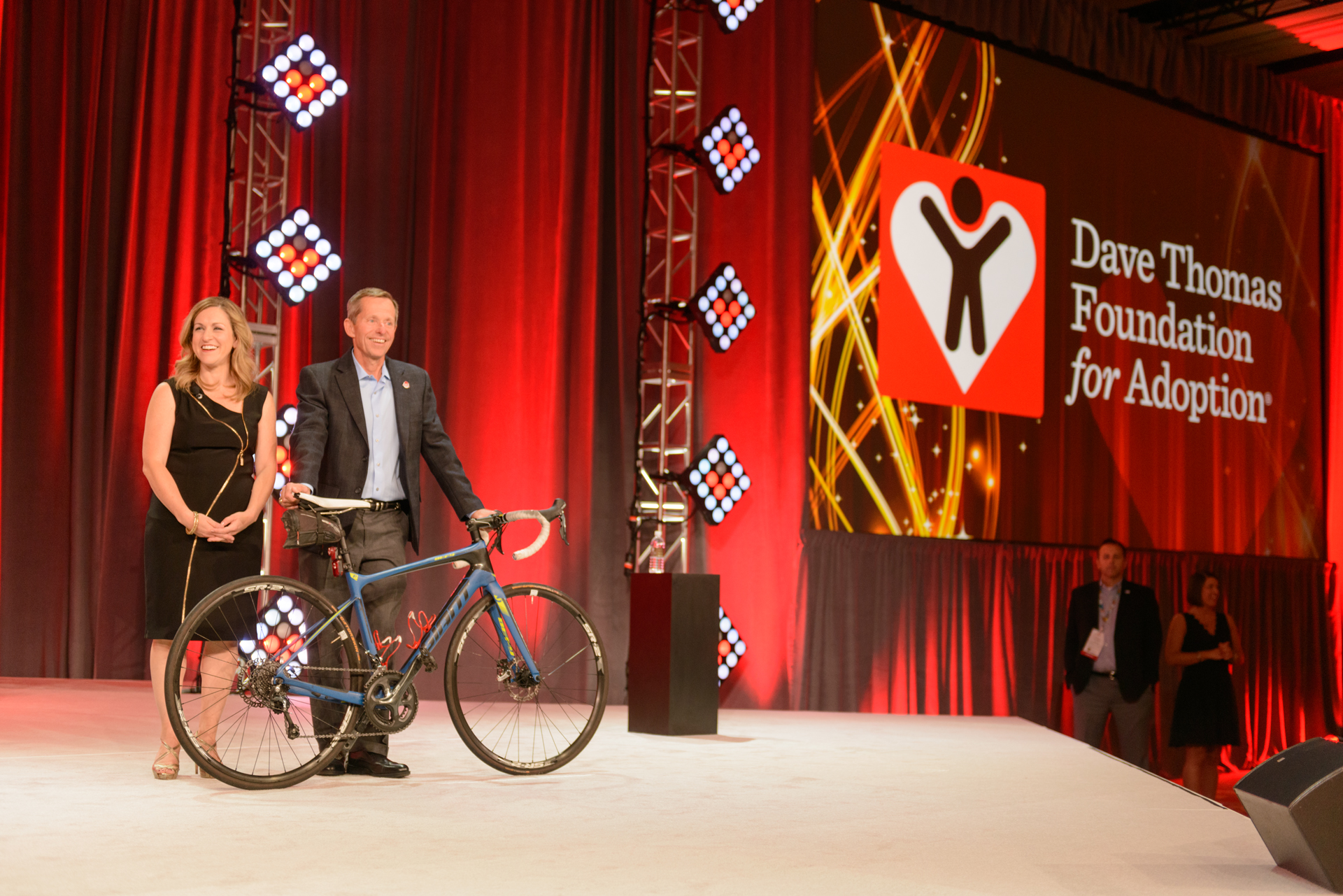 I'm on stage with ed Anderson and his bike.