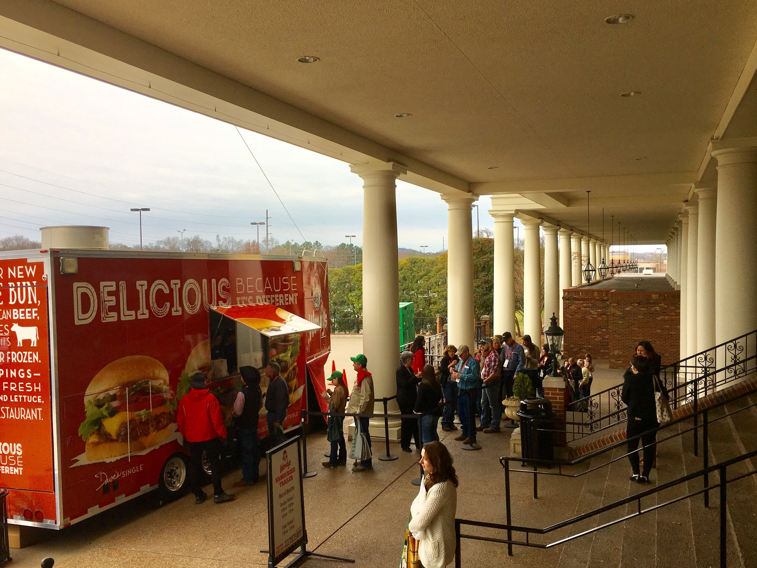 Wendy's Food Truck Serves Dave's Single Hamburgers to the NCBA Crowd in Nashville, TN.