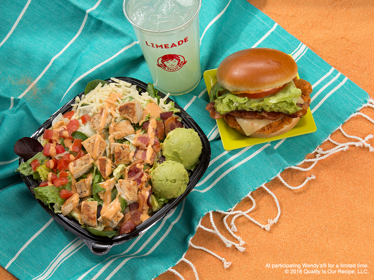 Wendy's New Southwest Avocado Chicken Salad and Sandwich.