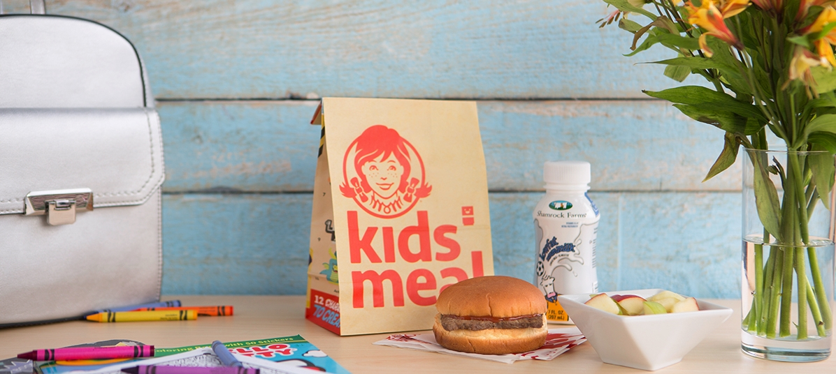 Wendy's Kid's Meals feature premium ingredients like our fresh, never frozen hamburgers* and freshly cut apples while offering up creative play options to get the whole family involved.
