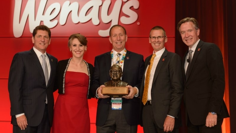 Founder's Award Winner Mike Zak is joined by Scott Weisberg, Abigail Pringle, Todd Penegor and Bob Wright