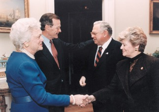 Today we especially remember the role that President Bush played in encouraging our founder, Dave Thomas, to become a national advocate for adoption.