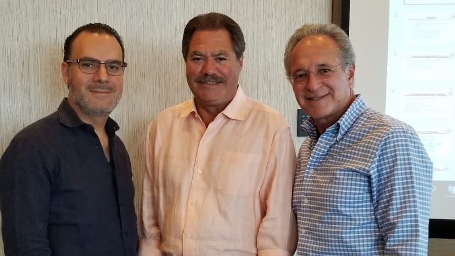 Pictured from left to right: Jhonny Mercado, Eddie Rodriguezand Andres Garcia of JAE Restaurant Group