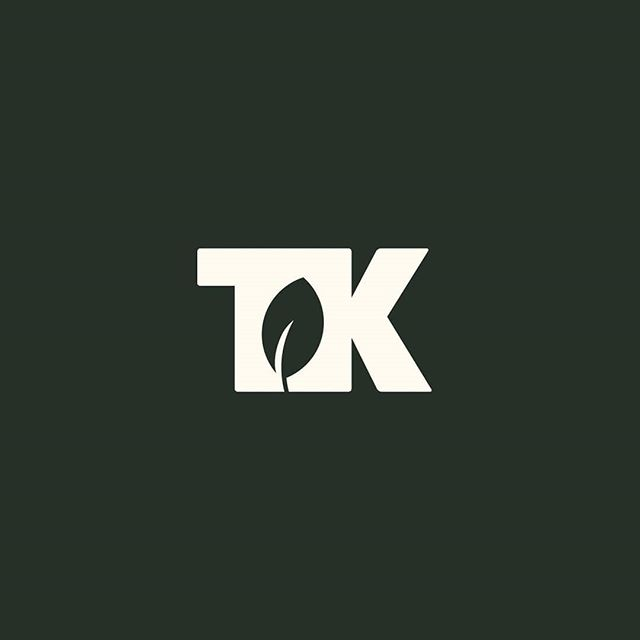 TK mark. Unused, but not forgotten. . . #logo #logodesign #logodesigner #identity #freelance #design #dribbble #designer #instadesign #graphicdesign #graphicdesigner #leaf #designersofinstagram #wordmark #logotype