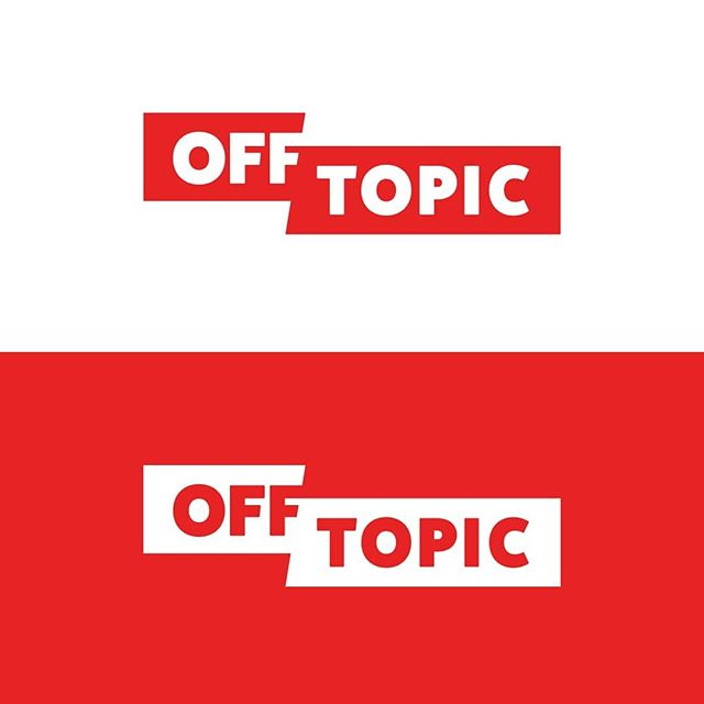 #tbt to Off Topic. It was envisioned as an umbrella brand over various possible ventures, like a gaming channel on YouTube and more. Still one of my favorite treatments in recent years. . . #logo #logodesign #logodesigner #identity #freelance #design #dribbble #designer #instadesign #graphicdesign #graphicdesigner #offtopic #youtube #wordmark #logotype #channel #gaming