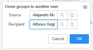 servicenow clone groups ui