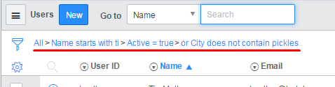ServiceNow users table query breadcrumb encoded query