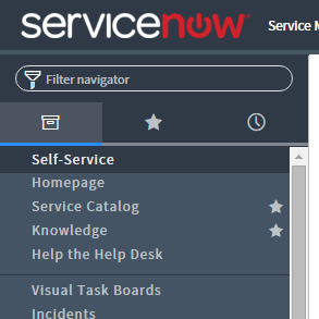 ServiceNow Application Navigator in Geneva.