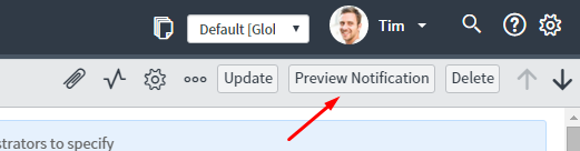 geneva ui16 preview notification button