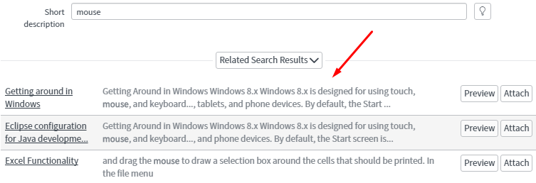 Related Search Results Field on Incident Form in Geneva UI16