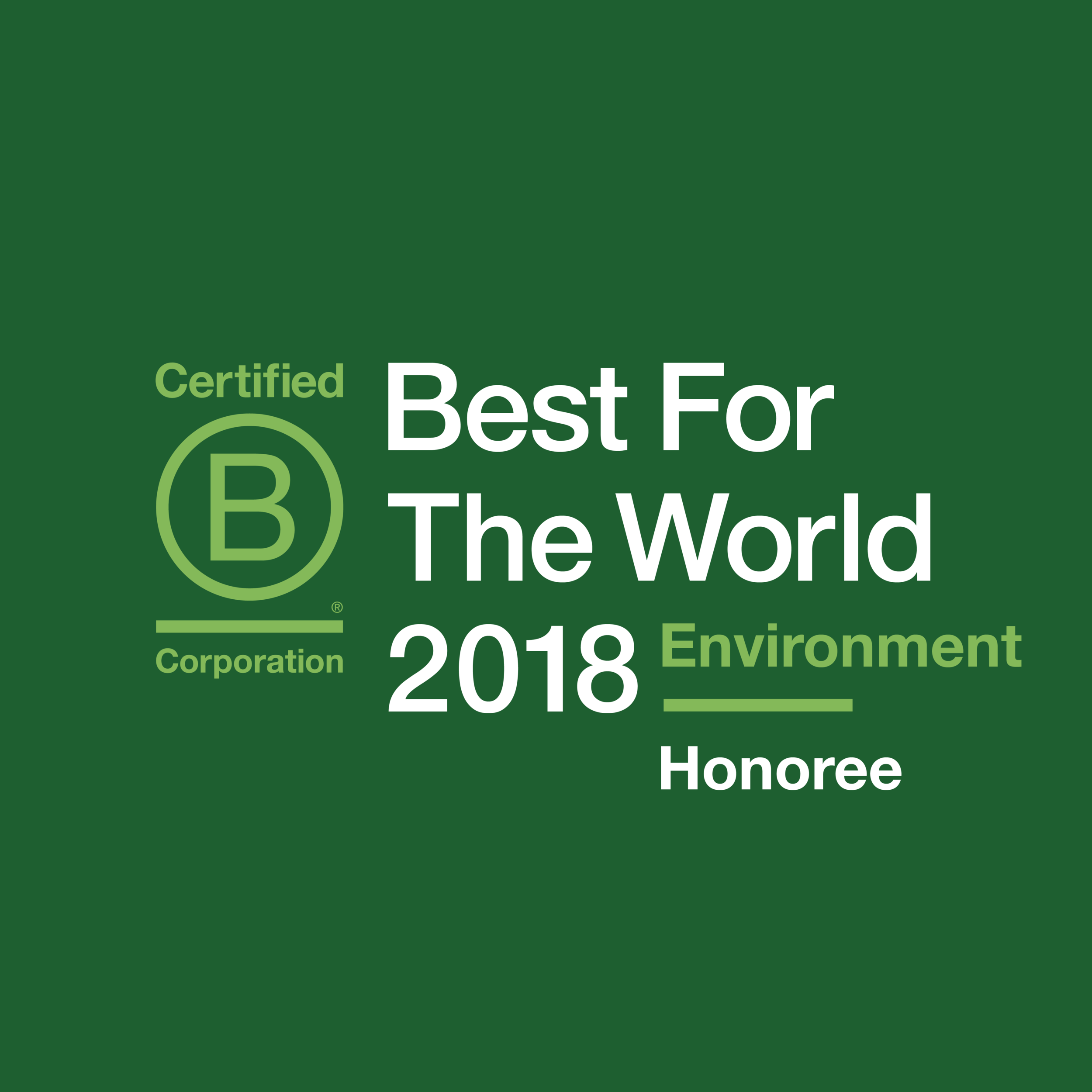 B Corp Best in World Honour