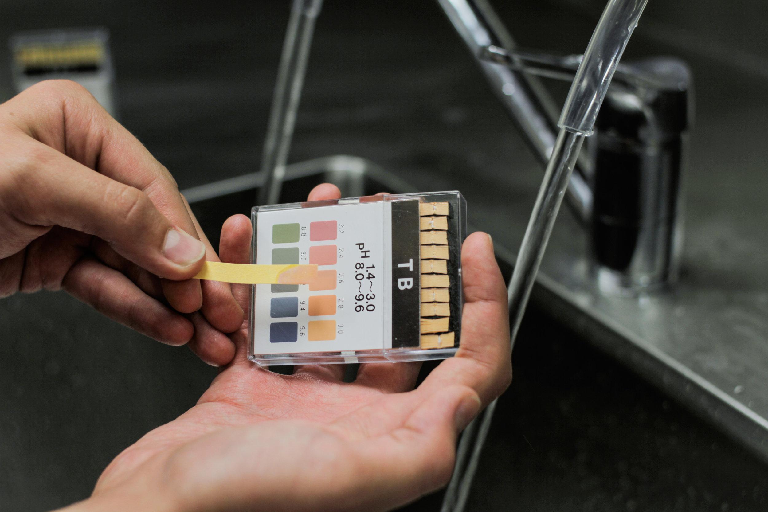 Electrolysed Water pH Testing