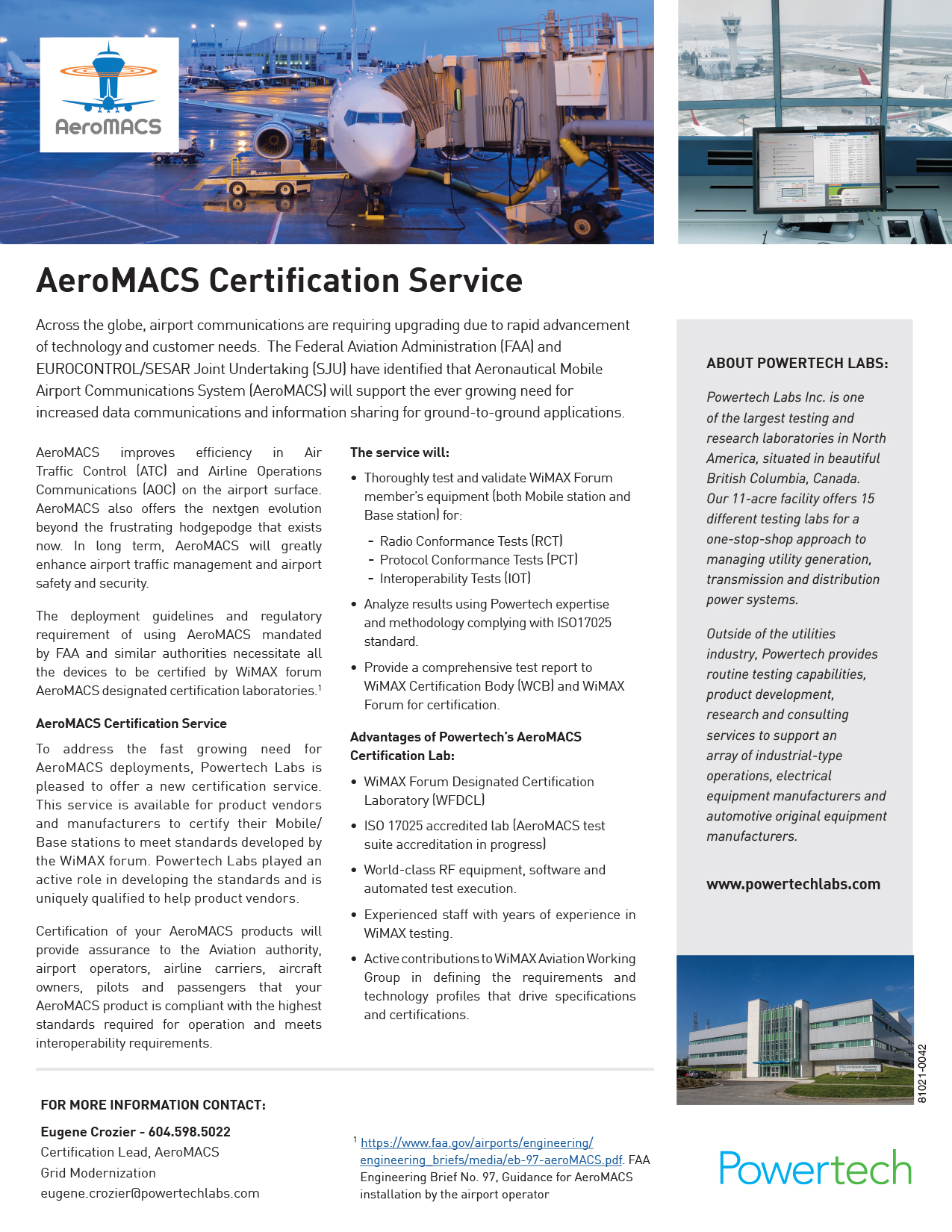 AeroMACS Certification Services PDF →