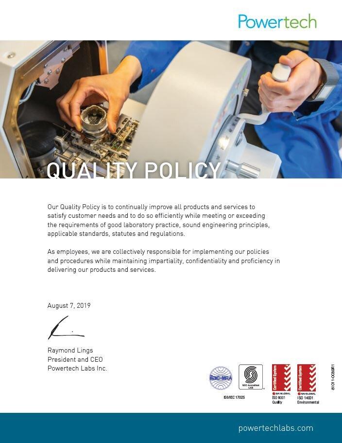 Quality Policy PDF→