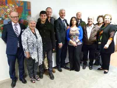 From left to right: Martin Sammut, Iole Marino, Raffaele Zanella, Paul Lostia, Don Smarelli, Gemma Leombruni, Battista Saiu, Giovanni Chighine, Aurora Chighine, Giovanna Ruiu.
