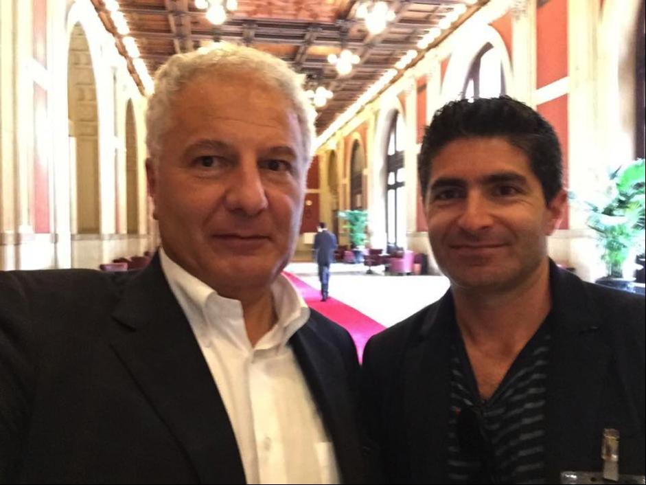"Marco Fedi (left - PD   Member of the Foreign Constituency of Italian Parliament) and     Daniele Curto (right - Daniele Curto - Managing Director ""Segmento"")"