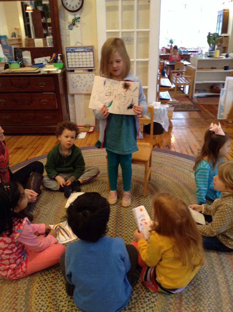 A student shares a story she wrote during Writer's Workshop.