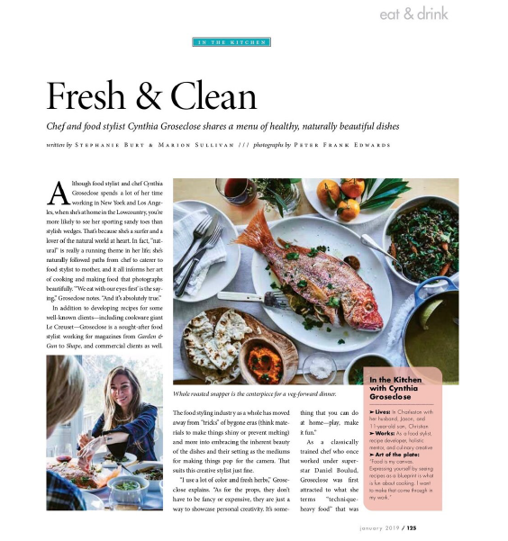 Charleston Magazine - Fresh & Clean