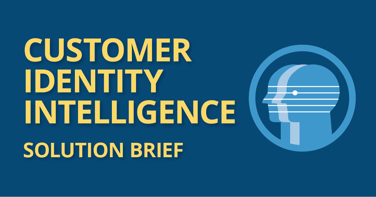 customer identity intelligence solution brief