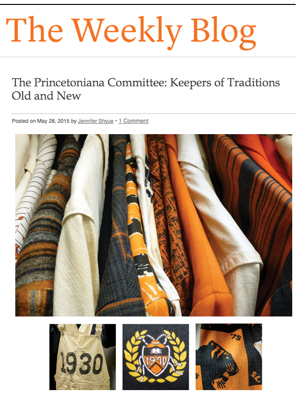 Princeton University's keepers of tradition, Princetoniana Committee, in Princeton Alumni Weekly Reunions Guide