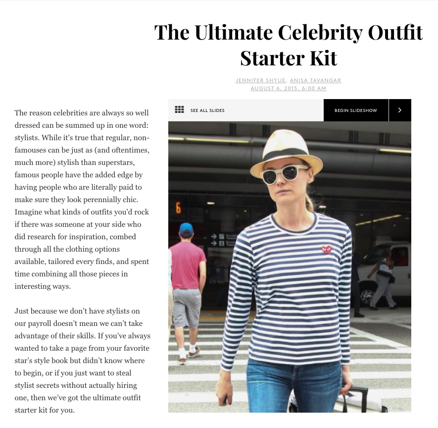 Guide to dressing like your favorite celebrity in Refinery29