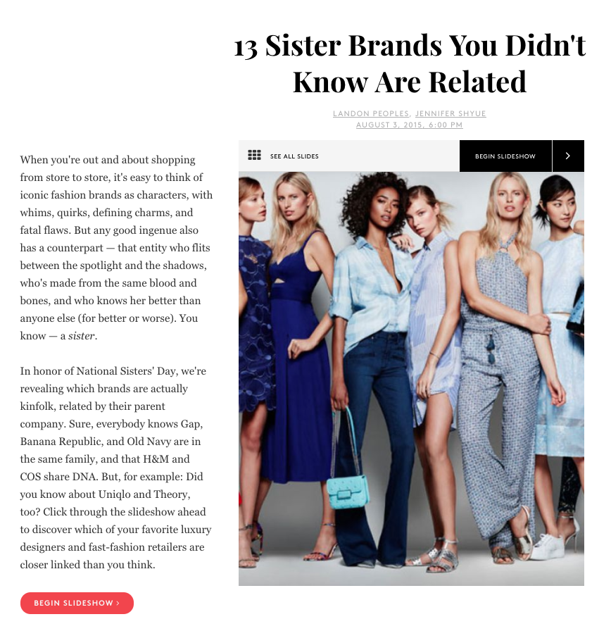 13 surprise related brands in Refinery29
