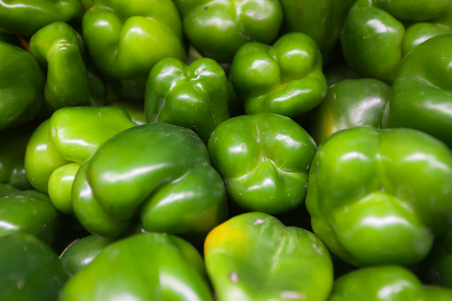 Organic Green Bell Peppers Mana Foods Produce Department
