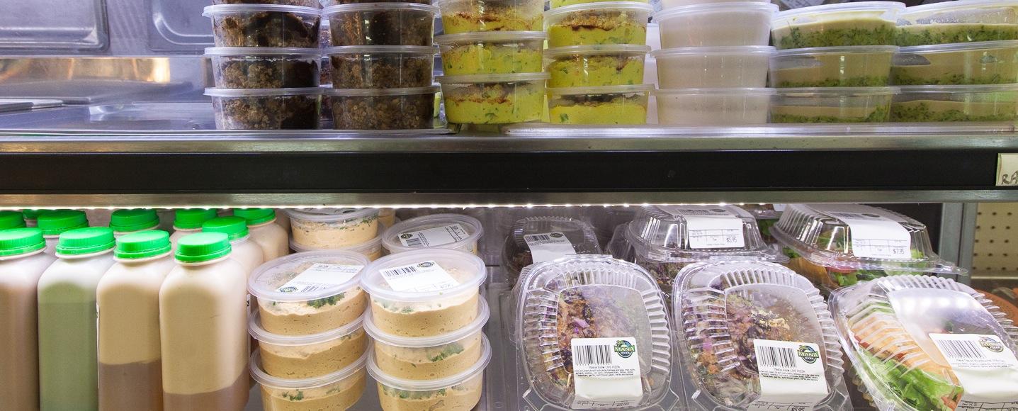 Mana Foods Fresh Raw Food Display