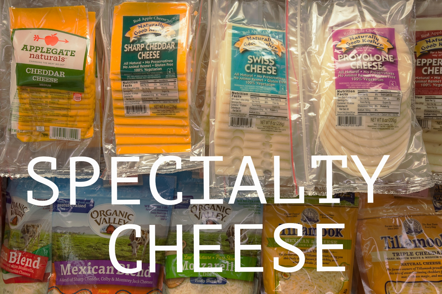specialty cheese department