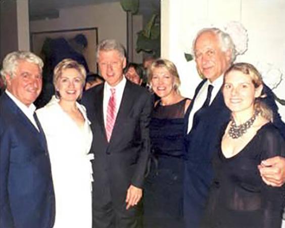 Bill Clinton and Hillary Rodham Clinton at Santini Belgravia London