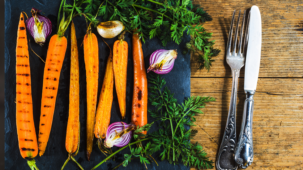 grilled miso carrots