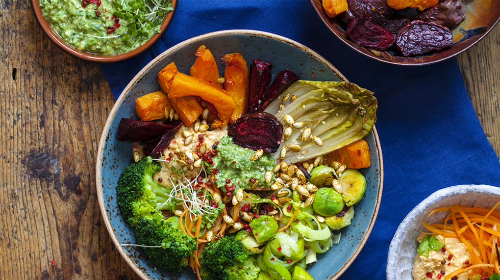 Grilled Vegetable Quinoa Bowl