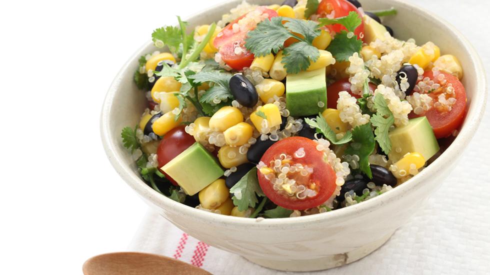 Charred Corn Quinoa Salad