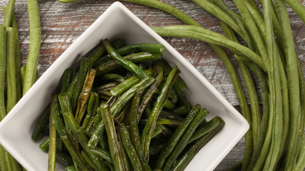 miso blistered long beans