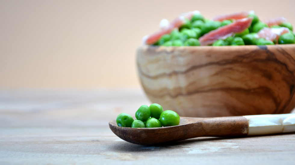 Umami Peas and Pancetta