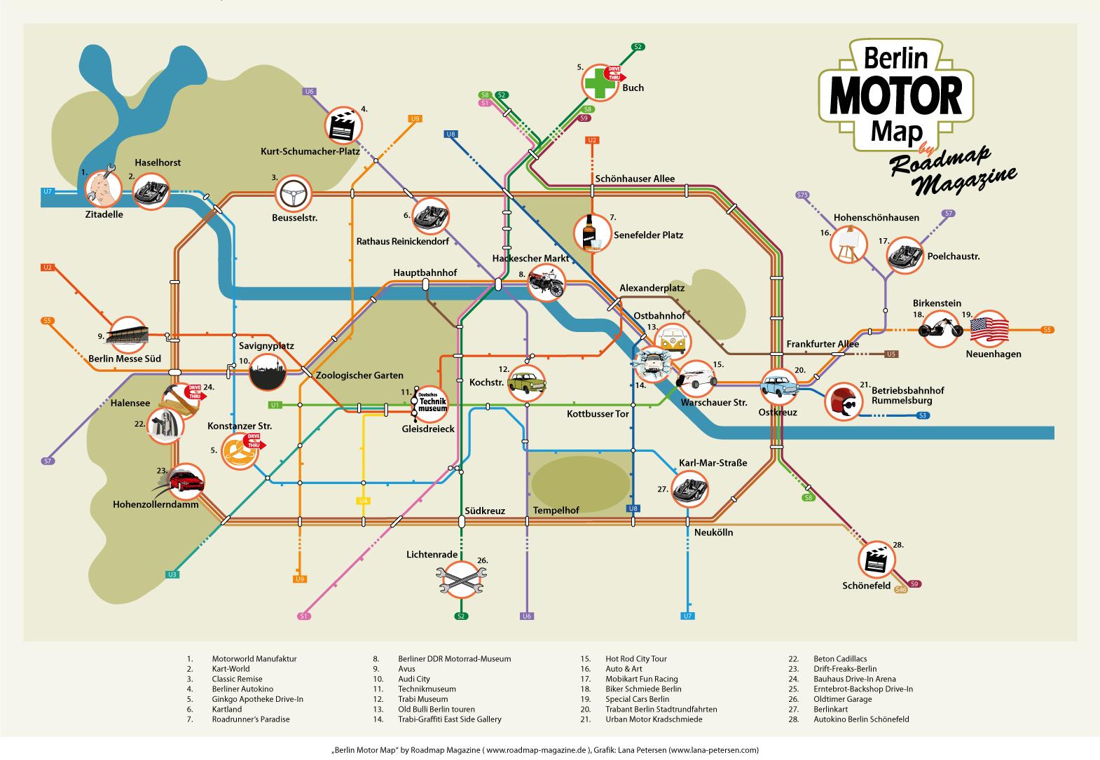Berlin Motor Map
