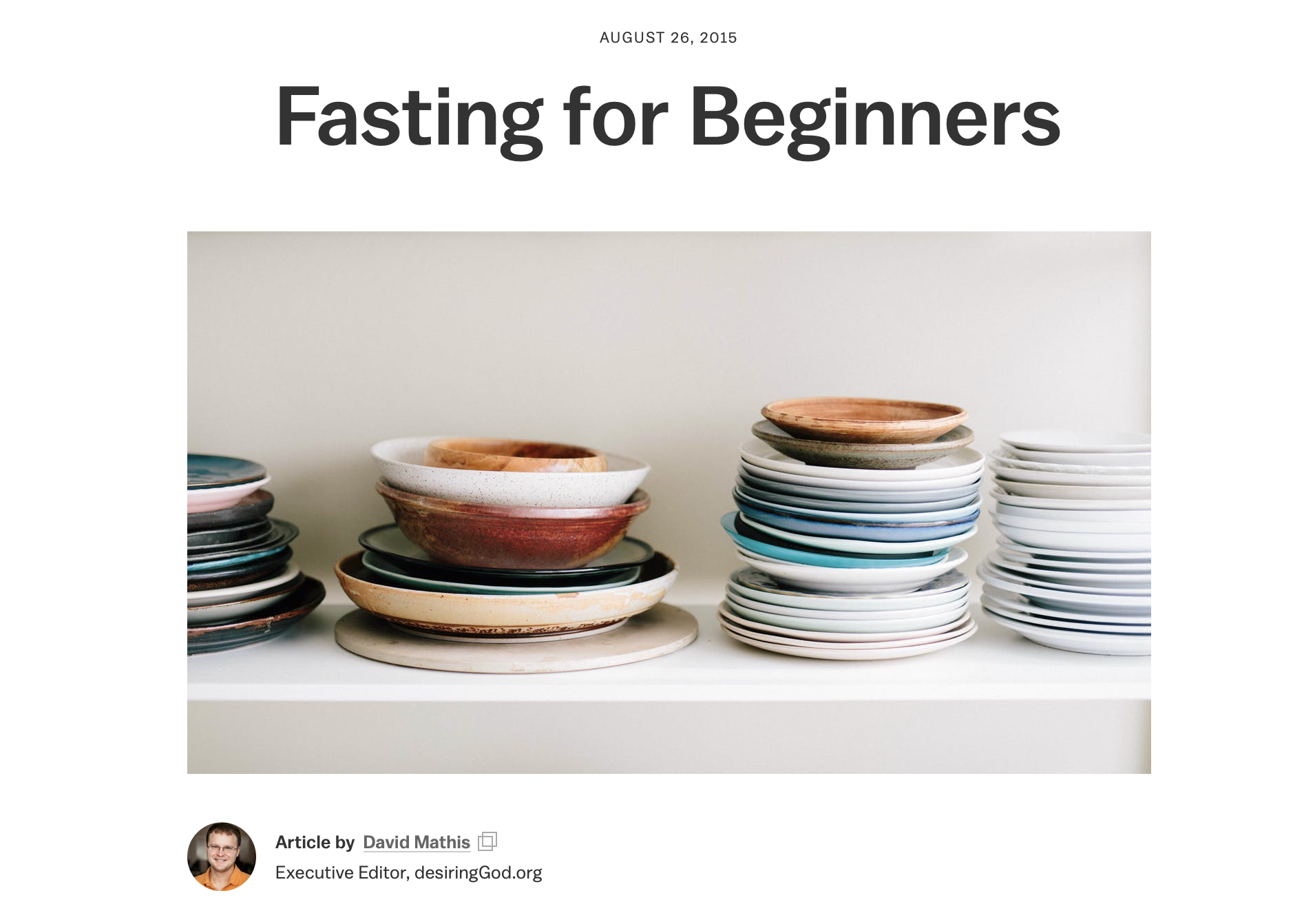Fasting for Beginniners